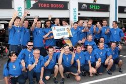 Scuderia Toro Rosso celebrate Italy's World Cup win