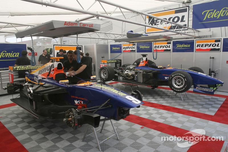 Racing Engineering s'est installé pour le début du week-end