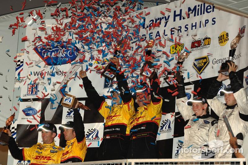 Célébration du podium LMP2