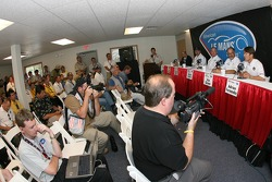Acura press conference: Scott Atherton, Robert Clarke, Duncan Dayton, Kim Green and Adrian Fernandez meet the press