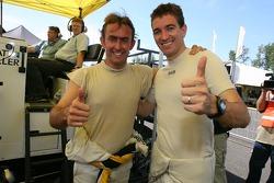 LMGT1 pole winners Olivier Beretta and Oliver Gavin celebrate