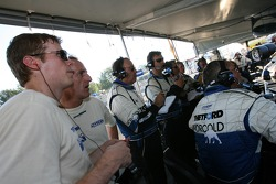 Chris Dyson and James Weaver watch the race