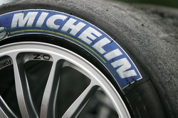 Michelin tires ready for the race