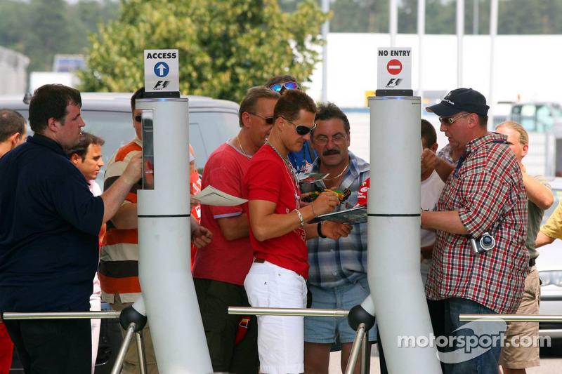 Arrivée de Michael Schumacher