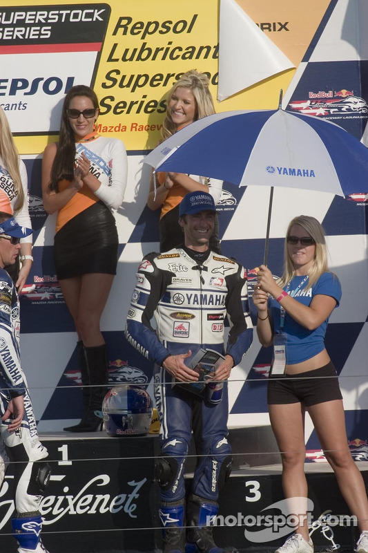 Eric Bostrum sur le podium, a terminé troisième