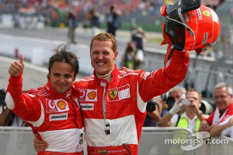 Michael Schumacher mit Felipe Massa