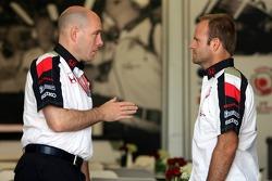 Rubens Barrichello mit Jock Clear