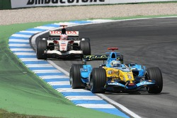 Fernando Alonso and Rubens Barrichello