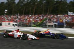 Lewis Hamilton and Adam Carroll