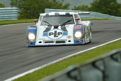 #40 Derhaag Motorsports Pontiac Riley being chased by #75 Krohn Racing Ford Riley