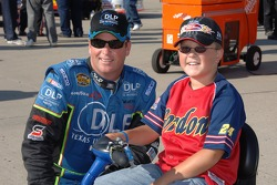 Tony Raines and a young fan