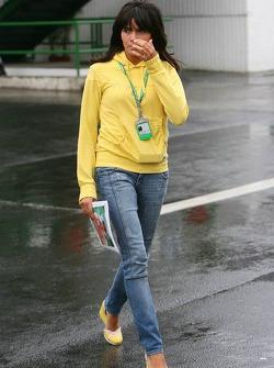 Raquel Rosario, girlfriend of Fernando Alonso
