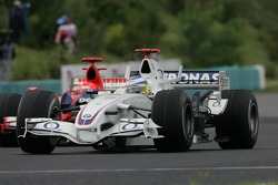 Nick Heidfeld leads Michael Schumacher