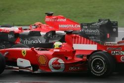 Christijan Albers and Felipe Massa
