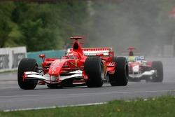 Michael Schumacher leads Ralf Schumacher