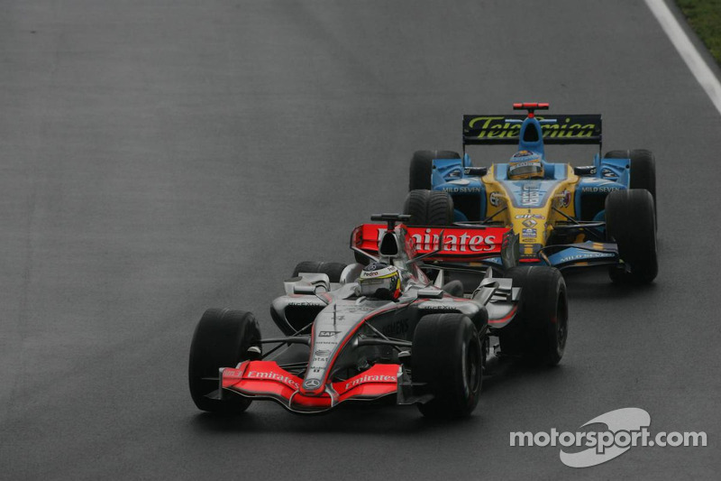 Pedro de la Rosa y Fernando Alonso