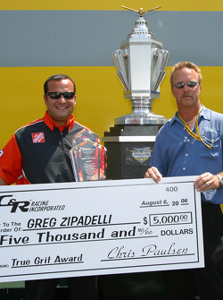 Greg Zipadelli accepts True Grit award