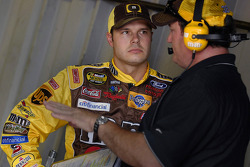 Veteran Crew Chief Todd Parrott helps rookie David Gilliland out with his years of experience