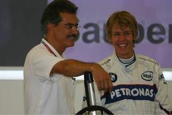 Dr. Mario Theissen with Sebastian Vettel
