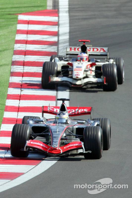 Pedro de la Rosa and Rubens Barrichello