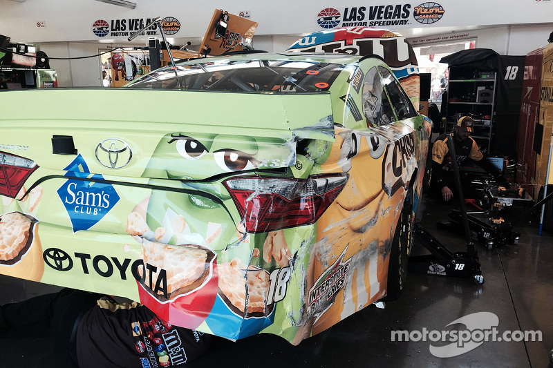 Das Unfallauto von David Ragan, Joe Gibbs Racing, Toyota
