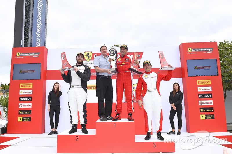TPAM-Podium: 1. #8 Ferrari of Ft. Lauderdale, Ferrari 458, 2. Arthur Romanelli, 3. Carlos Conde