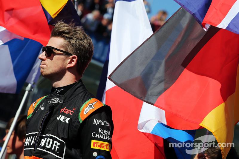Nico Hülkenberg, Sahara Force India F1, in der Startaufstellung