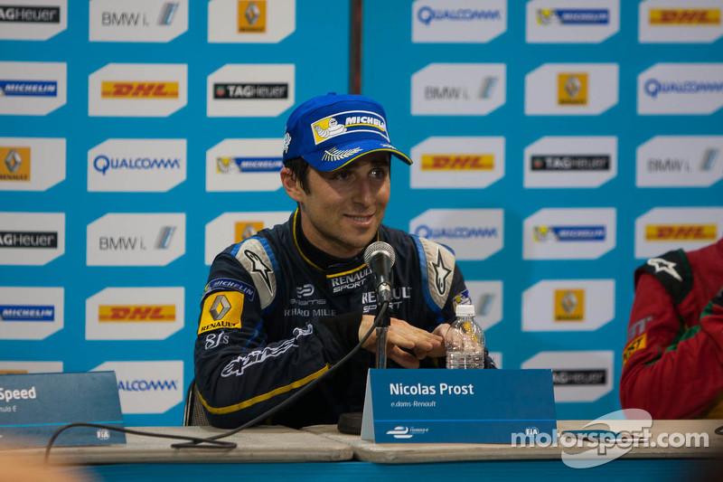 Pressekonferenz nach dem Rennen: 1. Nicolas Prost