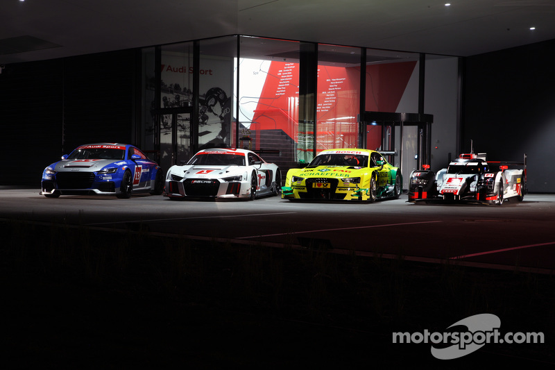 Audi TT Cup, Audi R8 LMS, Audi RS5 DTM, Audi R18 e-tron quattro