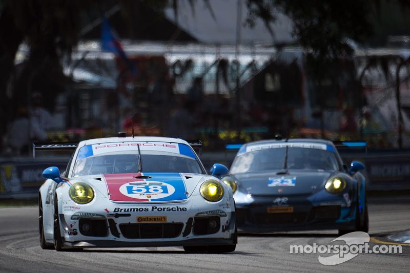 #58 Wright Motorsports,保时捷911,美洲GT赛: Madison Snow, Jan Heylen, Emilio Valverde