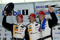 Overall podium: race winners Sébastien Bourdais, Christian Fittipaldi, Joao Barbosa, Action Express Racing