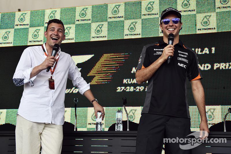 Will Buxton, NBC Sports Network TV Presetador con Sergio Pérez, Sahara Force India F1
