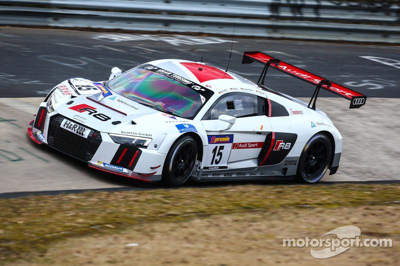 #15 Phoenix Racing, Audi R8 LMS: Marc Basseng, Mike Rockenfeller, Christopher Haase, Frank Stippler