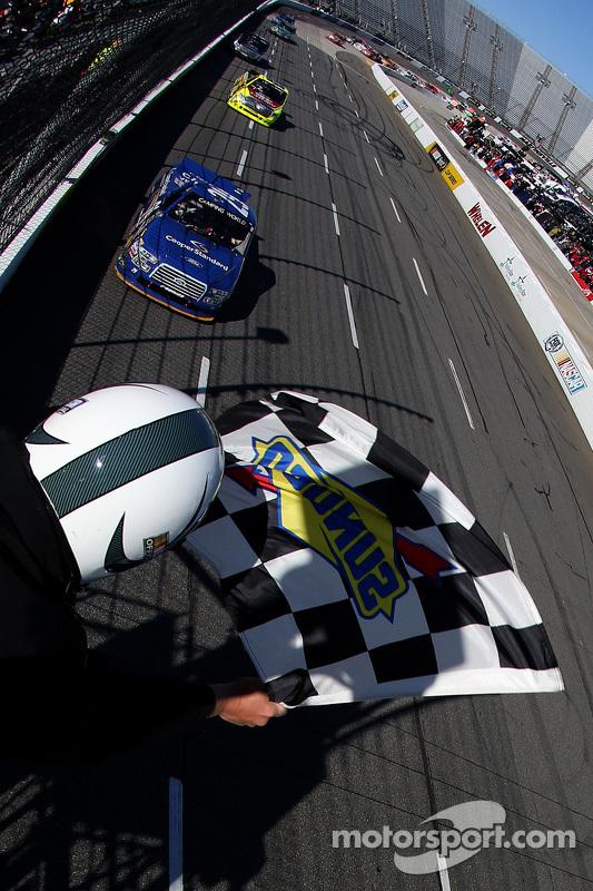 Joey Logano, Brad Keselowski Racing Ford takes the win