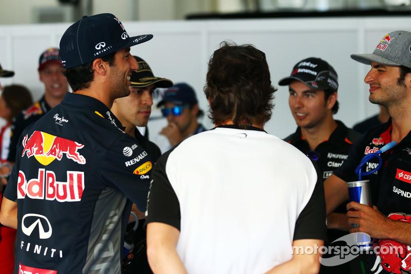 Daniel Ricciardo, Red Bull Racing dalam parade pembalap