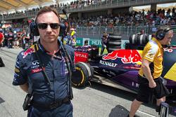 Christian Horner, Red Bull Racing-teambaas op de grid