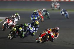 Dani Pedrosa, Repsol Honda Team dan Pol Espargaro, Monster Yamaha Tech 3 dan Valentino Rossi, Yamaha Factory Racing