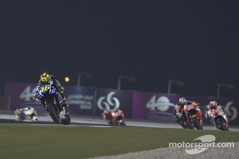 Valentino Rossi, Yamaha Factory Racing dan Dani Pedrosa, Repsol Honda Team dan Yonny Herndanez, Pramac Racing