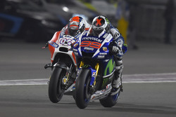 Jorge Lorenzo, Yamaha Factory Racing y Andrea Dovizioso, Ducati Team