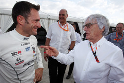 Gianni Morbidelli, Honda Civic TCR, West Coast Racing and Bernie Ecclestone, President and CEO of FOM