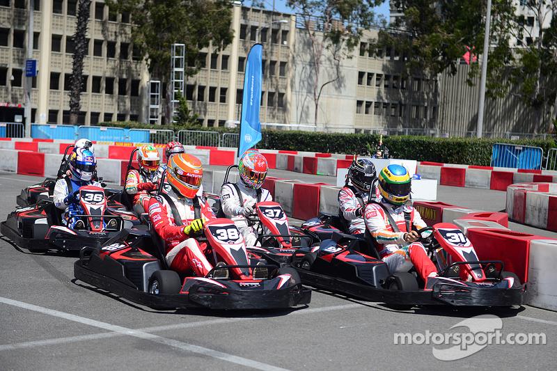 Kartveranstaltung mit Formel-E-Fahrern