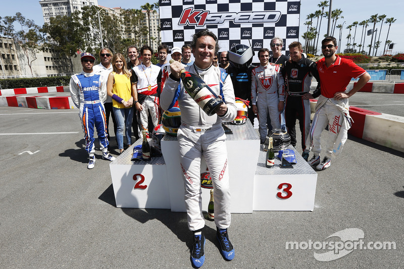 Alejandro Agag, CEO Formula E dengan sampanye