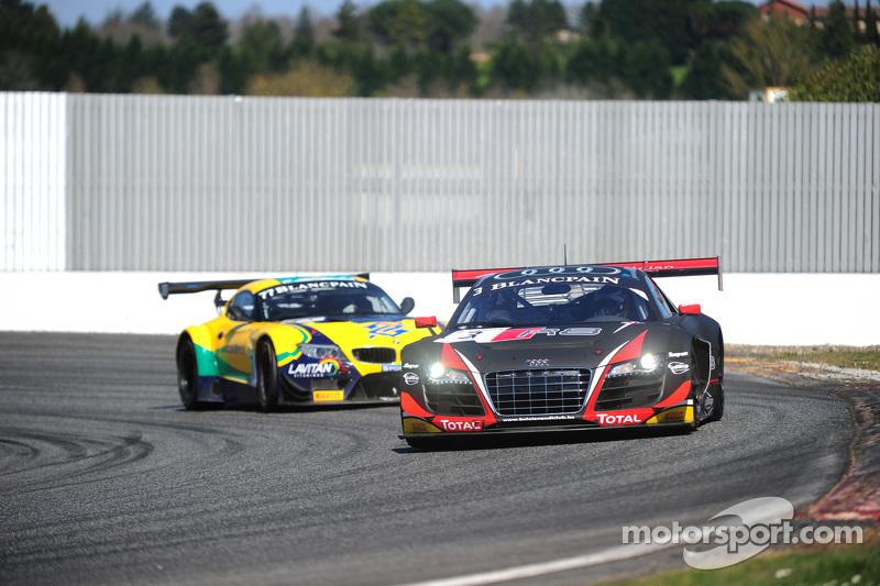 #3 Belgian Audi Club Team WRT Audi R8 LMS Ultra: Stephane Richelmi, Stephane Ortelli