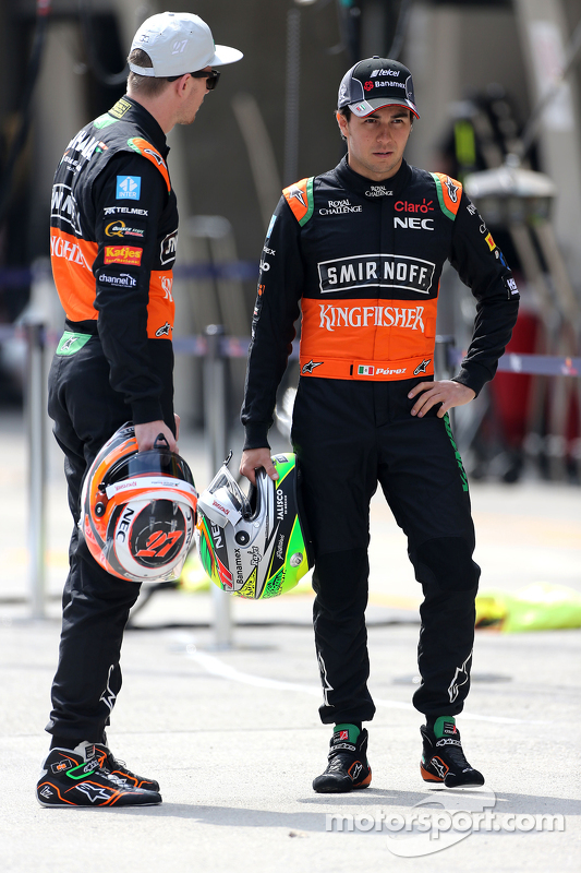 Nico Hülkenberg, Sahara Force India, und Sergio Perez, Sahara Force India