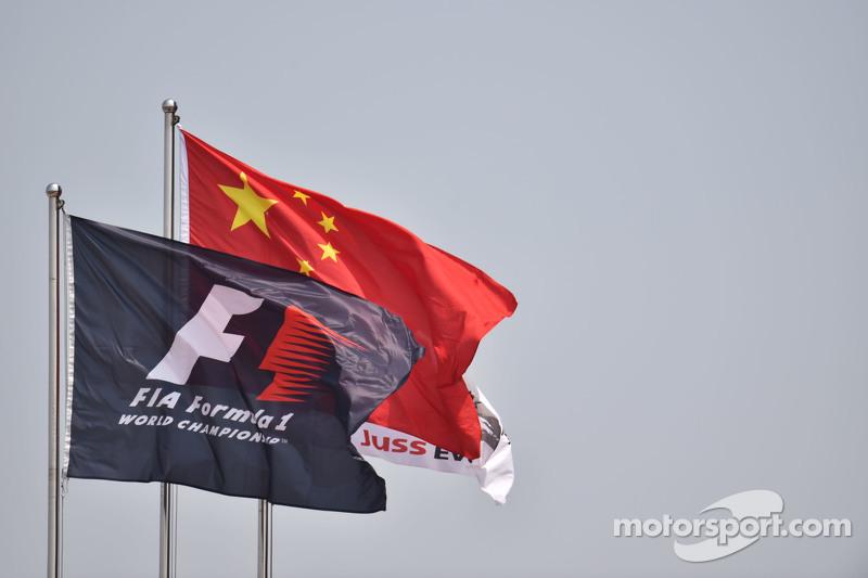 Banderas de China y la F1
