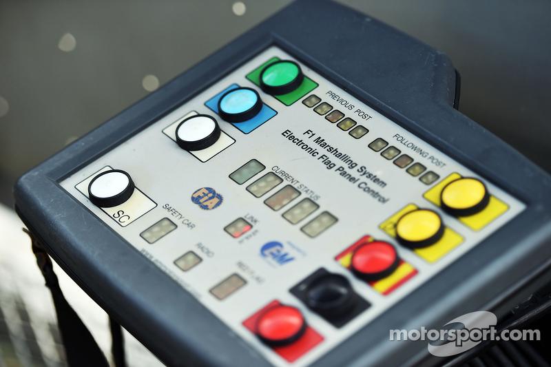 F1 Marshalling System Electronic Flag Panel Control