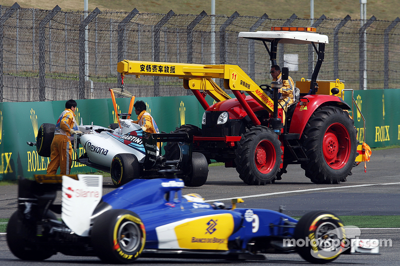 Felipe Massa, Williams FW37 after his crash
