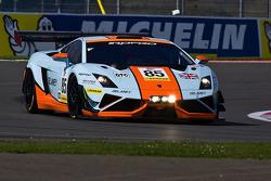 #85 Gulf Racing UK, Lamborghini Gallardo GT3: Roald Goethe, Daniel Brown, Archie Hamilton