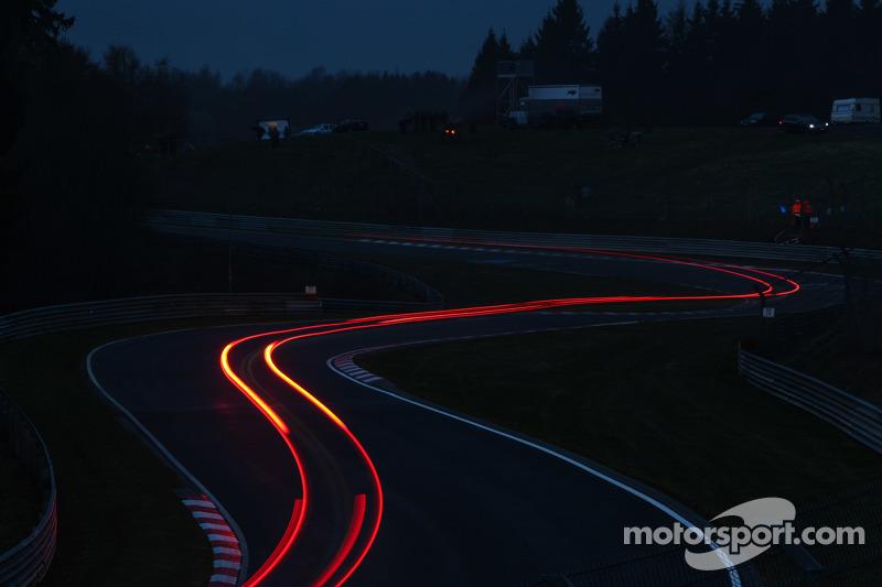 Llichtstreifen am Nürburgring