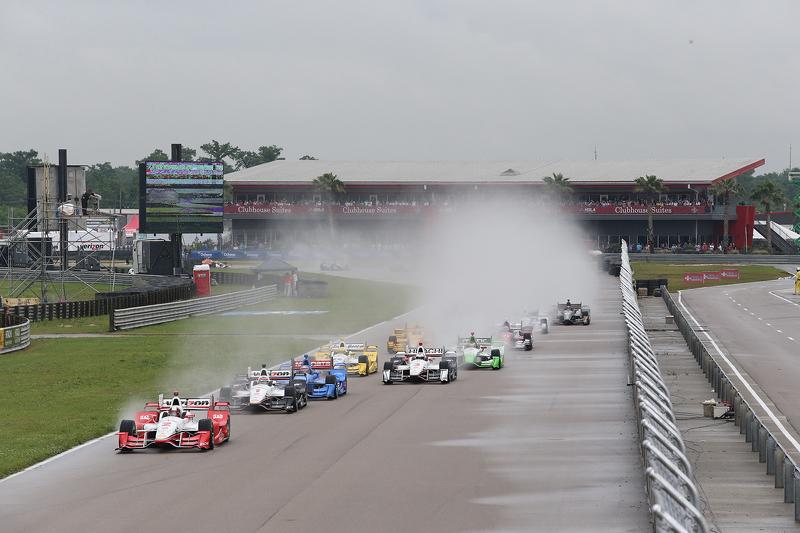 Juan Pablo Montoya, Team Penske Chevrolet mène au départ